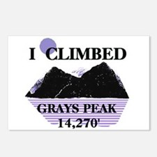 I Climbed GRAYS PEAK 14,270' Postcards (Package of