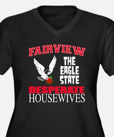 Fairview The Eagle State Women's Plus Size V-Neck