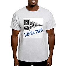 Dominoes Ash Grey T-Shirt