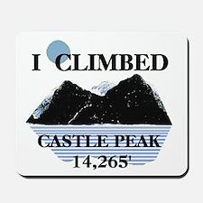 I Climbed Castle Peak t-shirt Mousepad