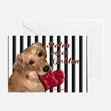 Golden Stolen Heart Greeting Card