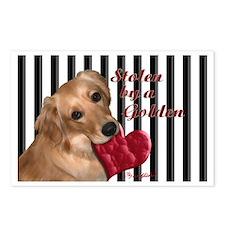 Golden Stolen Heart Postcards (Package of 8)