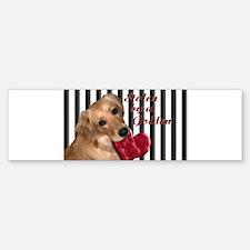 Golden Stolen Heart Bumper Bumper Sticker