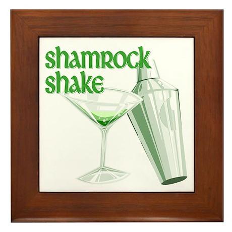 Shamrock Shake Framed Tile