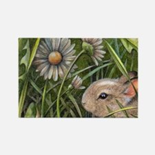 Cottontail Bunny Rectangle Magnet