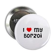 I * my Borzoi Button