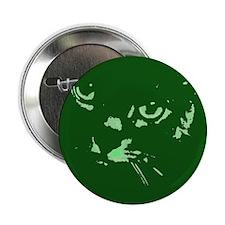 """Pop Art Gray Cat 2.25"""" Button (100 pack)"""