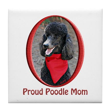 Proud Poodle Mom Tile Coaster