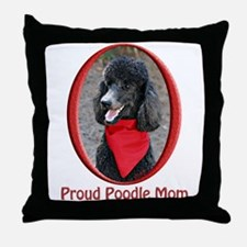 Proud Poodle Mom Throw Pillow
