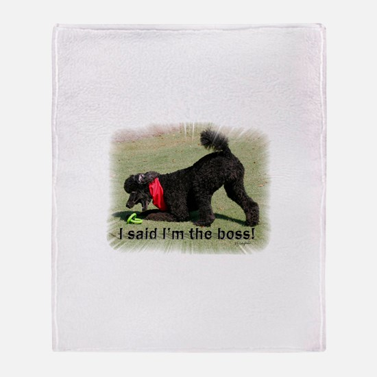 I'm the Boss Throw Blanket