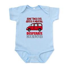 Sometimes Evil Drives a Minivan Infant Bodysuit