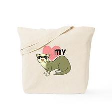Love My Ferret - Light / Cinnamon Tote Bag