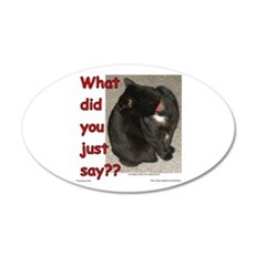 What Did You Just Say?? 22x14 Oval Wall Peel