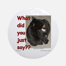 What Did You Just Say?? Ornament (Round)
