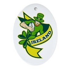 Irish Rugby Ornament (Oval)