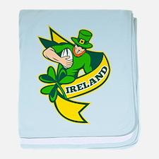 Irish Rugby baby blanket