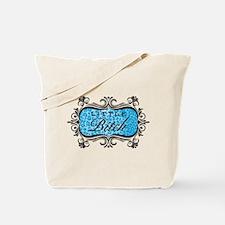 Blue Little Bitch Tote Bag