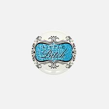 Blue Little Bitch Mini Button