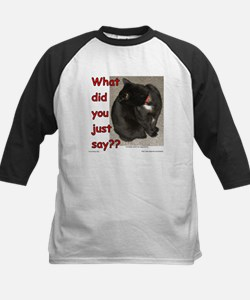 What Did You Just Say?? Kids Baseball Jersey