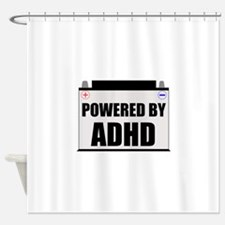 Powered By ADHD Shower Curtain