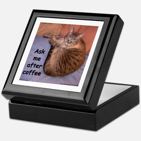Ask Me After Coffee Keepsake Box