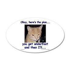 Okay, Here's the Plan... 22x14 Oval Wall Peel