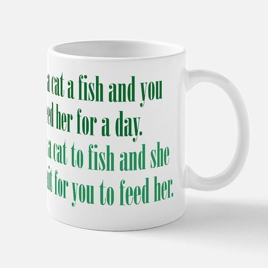 Give a Cat a Fish (Female) Mug