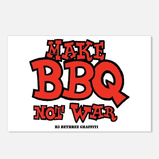 Make BBQ Not War Postcards (Package of 8)