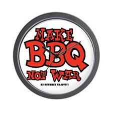Make BBQ Not War Wall Clock