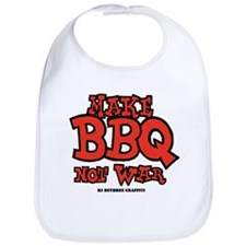 Make BBQ Not War Bib