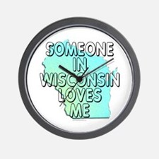 Someone in Wisconsin Wall Clock