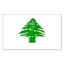 Green Cedar Tree Rectangle Decal