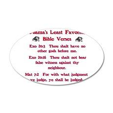 Bible Verses 22x14 Oval Wall Peel