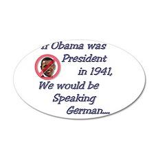 Speaking German 22x14 Oval Wall Peel