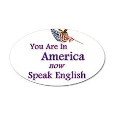 Now Speak English 22x14 Oval Wall Peel