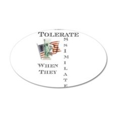 Tolerate / Assimilate 22x14 Oval Wall Peel