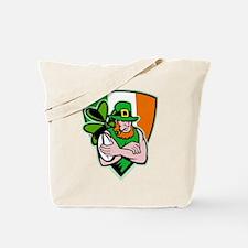 Irish leprechaun rugby Tote Bag