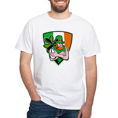 Irish leprechaun rugby White T-Shirt