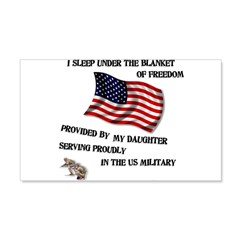 Blanket of Freedom Daughter 22x14 Wall Peel