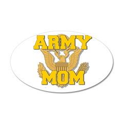 army mom 38.5 x 24.5 Oval Wall Peel