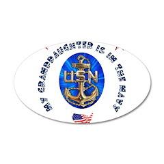 Navy Granddaughter 22x14 Oval Wall Peel