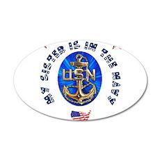 Navy Sister 38.5 x 24.5 Oval Wall Peel