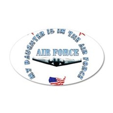 Air Force Daughter 22x14 Oval Wall Peel