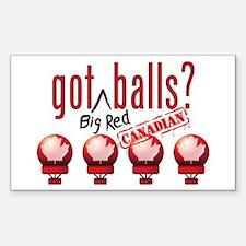 National Balls (CDN) Sticker (Rectangle)