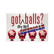 National Balls (USA) Rectangle Magnet (100 pack)