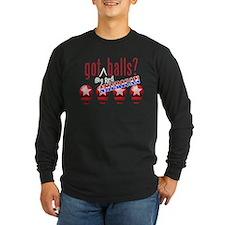National Balls (USA) Long Sleeve Dark T-Shirt