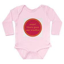 Wudhu Long Sleeve Infant Bodysuit (fuschia+orange)