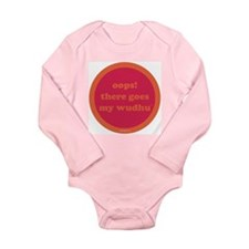 Wudhu Onesie Romper Suit (fuschia+orange)