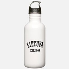 Distressed Lietuva Est. 1009 Water Bottle