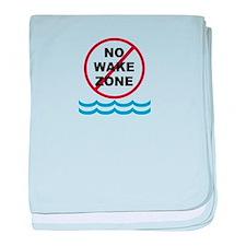 No Wake Zone baby blanket